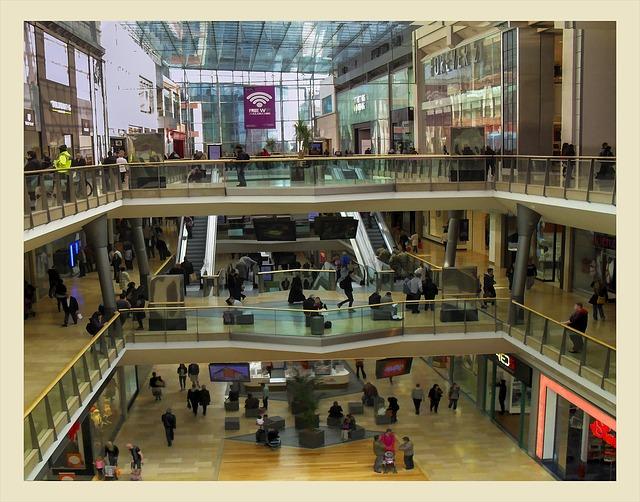velké nákupní centrum