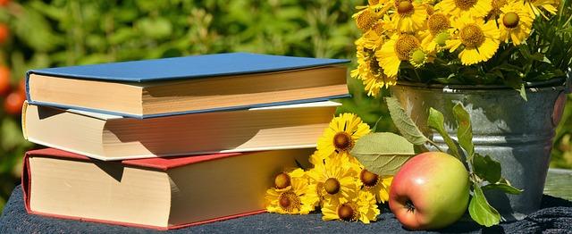 knihy a květiny¨