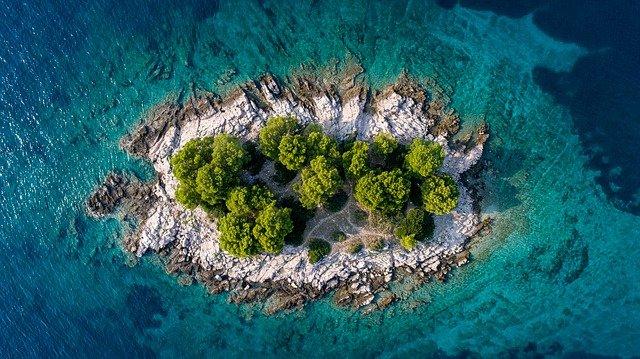 ostrůvek u Chorvatska