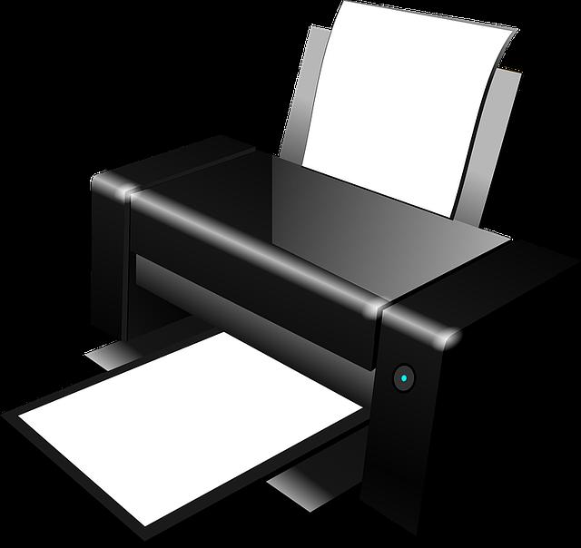 papíry v tiskárně